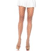 Spandex Diamond Pantyhose - White