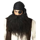 Pirate Beard & Moustache - Black