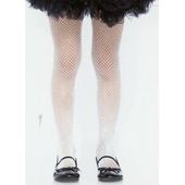 Girls Fishnet Tights - White
