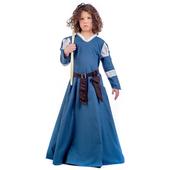 Blue medieval kids costume