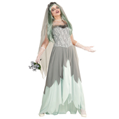 Adult zombie bride costume front 1