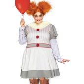 Creepy Clown Costume - Plus Size