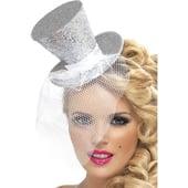 Silver Mini Top Hat