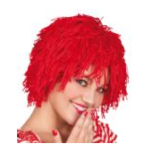 Wooly Clown Wig - red