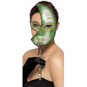 Mardi Gras Green Eye Mask
