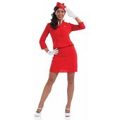 Red Cabin Crew costume