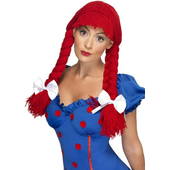 Rag Doll Wig - Red