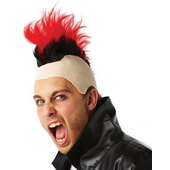 80's Red Mohawk Wig