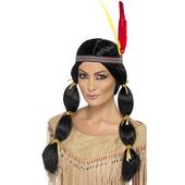 Pigtail Indian Princess Wig