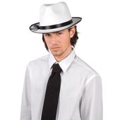 White Felt Gangster Hat
