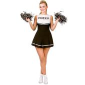 Cheerleader Black/White Costume