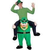 """Carry Me"" Leprechaun Mascot"