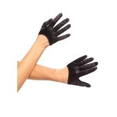 cropped black gloves