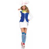 cozy white rabbit costume