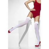 White Stockings With White Bow
