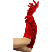 Temptress satin gloves (red)