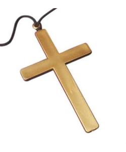 gold coloured cross