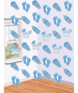 Baby Shower String Decorations - Blue