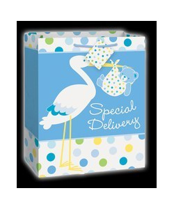 Baby Boy Stork Gift Bag