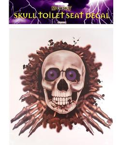 Skull Toilet Seat Decoration