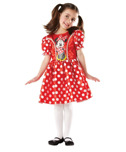 classic red minnie costume - kids