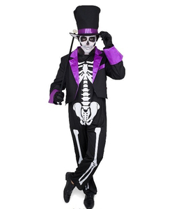 Day Of The Dead Skeleton Suit - Purple
