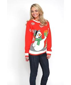Ladies Snowman Jumper