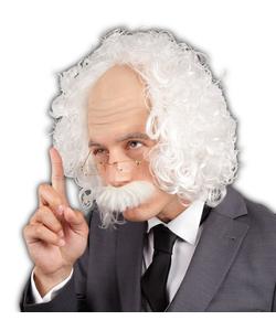Professor Wig with Moustache & Glasses
