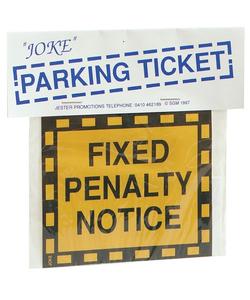 Joke Parking Ticket