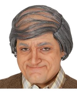 Bald Head With Grey Hair