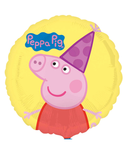 Yellow Peppa Pig Foil Balloon - 17""