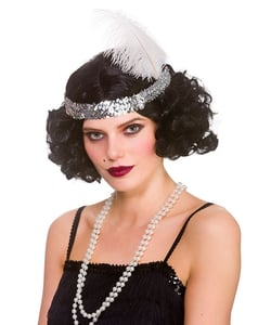 1920's Flapper Wig - Black