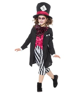 Girl Black Hatter Costume - Kids