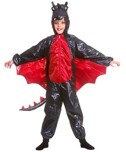 Deluxe Black Metallic Dragon Costume