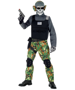 tween Skeleton Soldier Costume