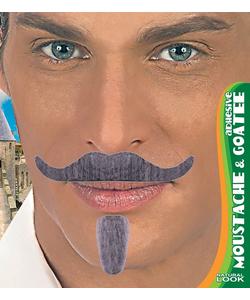 Moustache & Goatee - Grey