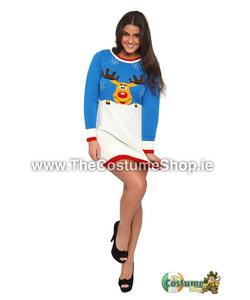 Ladies Rudolph Christmas Jumper