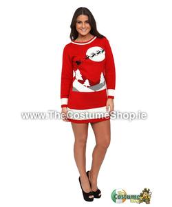 Ladies Sleigh Christmas Jumper