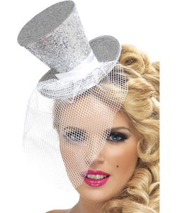 Silver Mini Top Hat