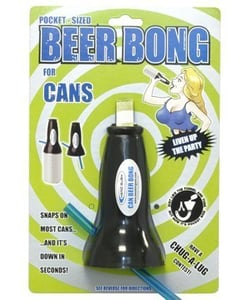 Beer can bong