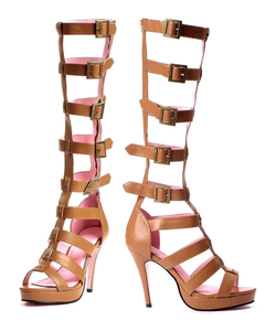 Ladies Roman Knee High Shoes
