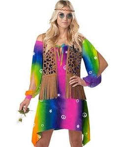 Hippie Chick Multi Costume