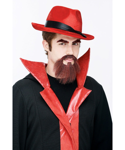 Devil Facial Hair - Red