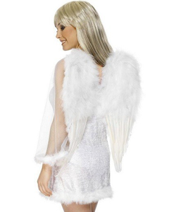 White Feather Angel Wings Costume Accessories