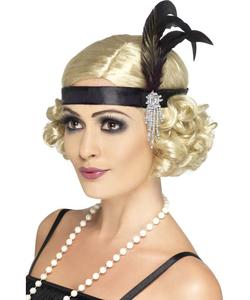 Black Feathered Headband