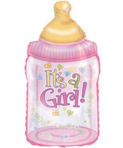 """Its A Girl"" Bottle Foil Balloon - 38.5"""