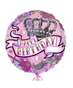 Happy Birthday Tattoo Balloon - 18""