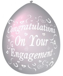 Congratulations On Your Engagement Balloons - 10 Pack