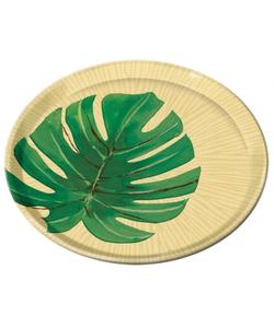 Island Palms Plastic Plate - 20.3cm