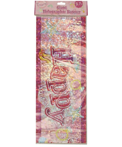 Giant Princess Holographic Banner - 2.7m
